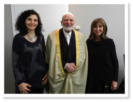 Samia Bahsoun, Brenda Rosenberg and Sheikh Omar S. Abu Namous at the Islamic Center N.Y.C. March 7th, 2012 speaking on the role of women in conflict resolution
